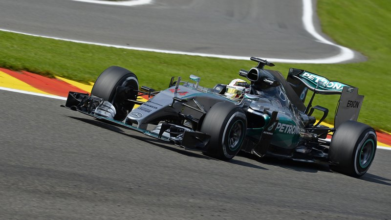 F1: Sixth consecutive pole for Hamilton as Rosberg completes front row for Mercedes in Belgian GP