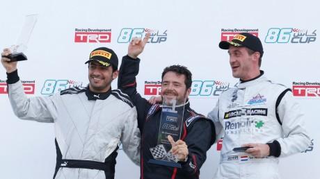 LtoR Shihab Al Faheem, Karim Al Azhari, Tom Verooijen, Race 1