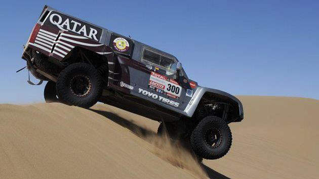 Rally Dakar: Qatari driver Al Attiyah wins stage 7 as UAE rider Balooshi blasts through the ranks