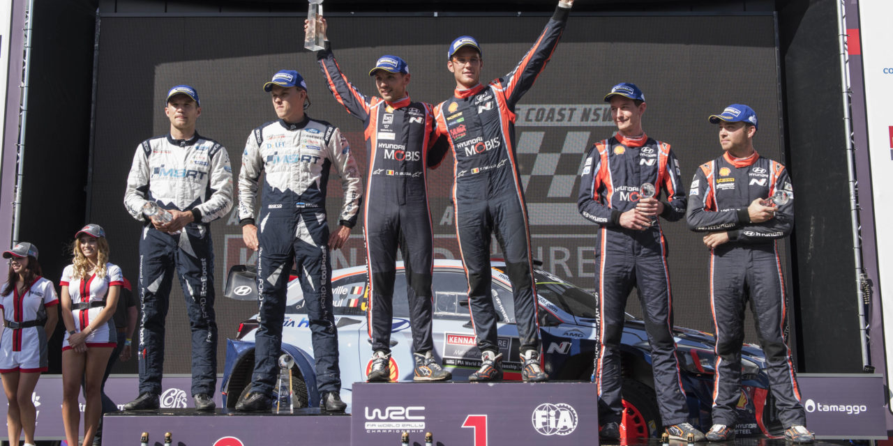 WRC: Rally Australia – Torrential rain couldn't stop Thierry Neuville taking his fourth WRC victory of the season