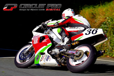 Paul rode his Yamaha FZR 750 Genesis at the Manx Classic and other selected events during the year