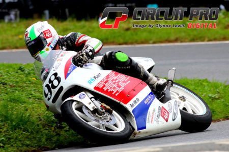 Paul on-board his trusty Honda RS 250 at Olivers Mount