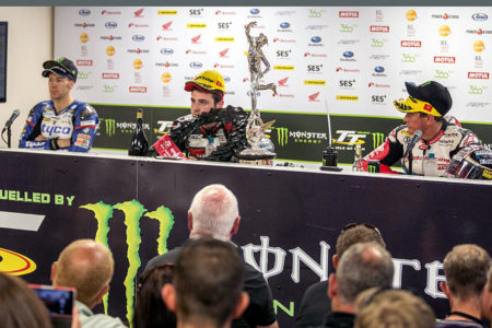 The press conference was a fiery affair with accusations being thrown about between Hutchy & Dunlop whilst McPint looked on