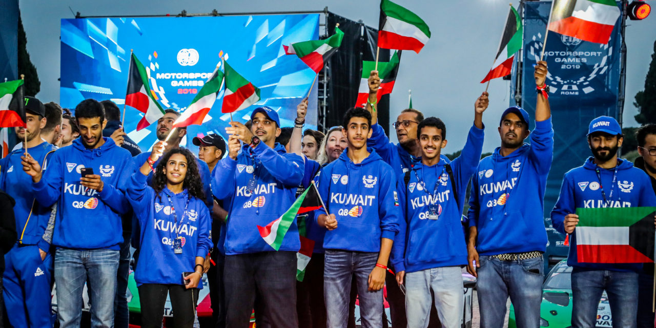 FIA: Kuwait team raise the flag high at the inaugural FIA Motorsport Games in Rome