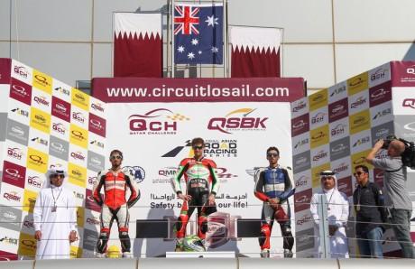 QSBK round 3 podium December 20, 20141-6