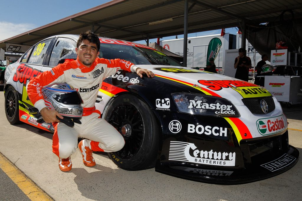 Bahrain's Raed Raffii all smiles after V8 Supercar test