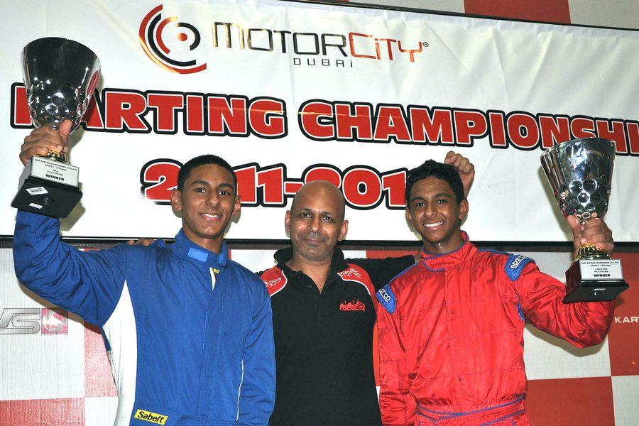 Karting UAE: Al Rawahi brothers untouchable in Rotax Max at Dubai Kartdrome