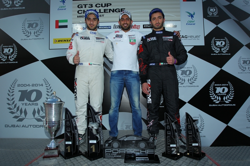 Dubai: Skydive Dubai Falcons record historic win on home turf in race one of the Porsche GT3 Cup at Dubai Autodrome