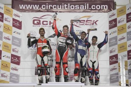2015 QMMF Superbike championship podium