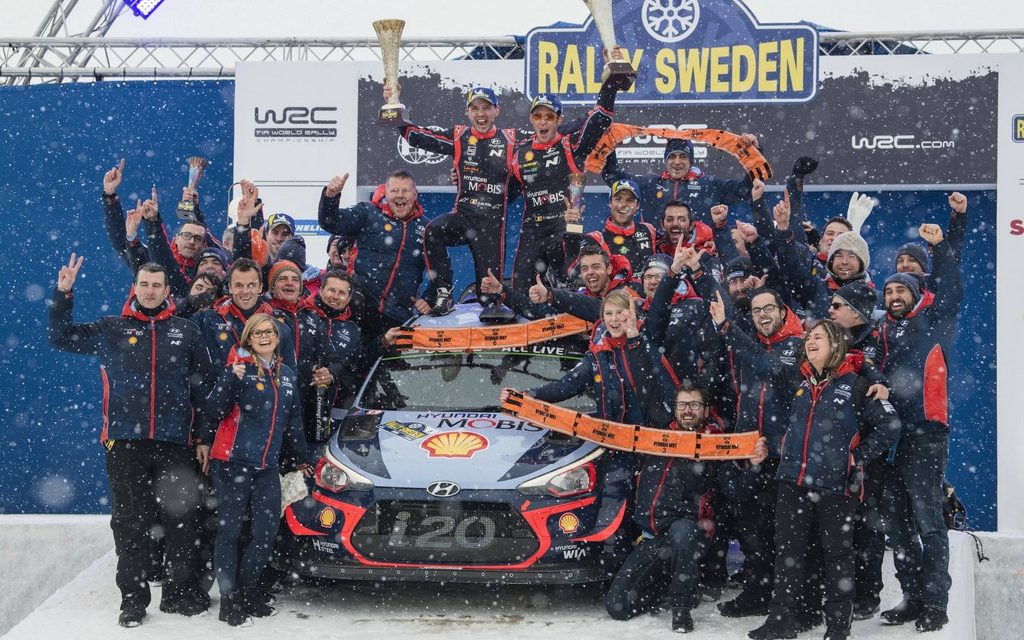 WRC: Rally Sweden sees Belgian Neuville take an ice-cool win