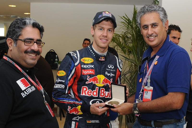 BIC: Chairman of Bahrain Circuit honours Vettel and Red Bull at Indian F1 GP