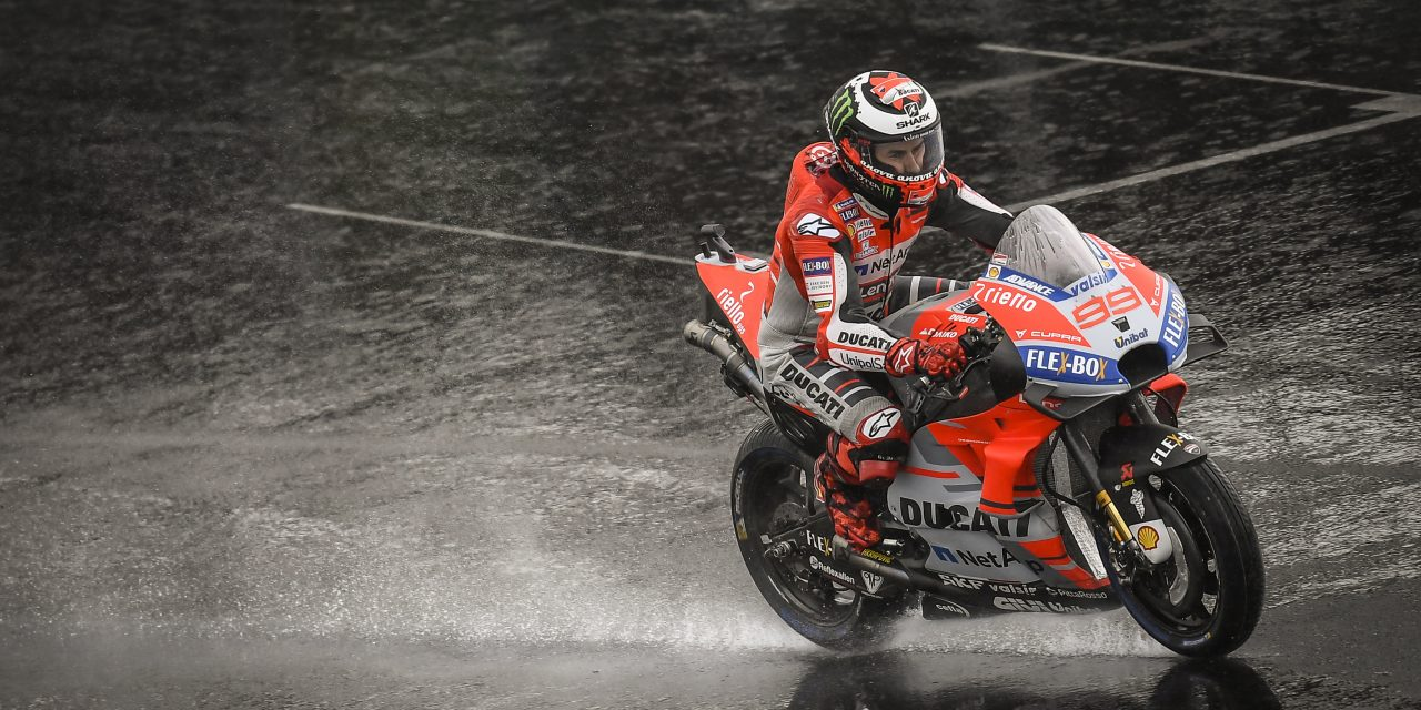 MotoGP: Wet weather forces Sunday schedule change with Lorenzo set to start from pole at Silverstone