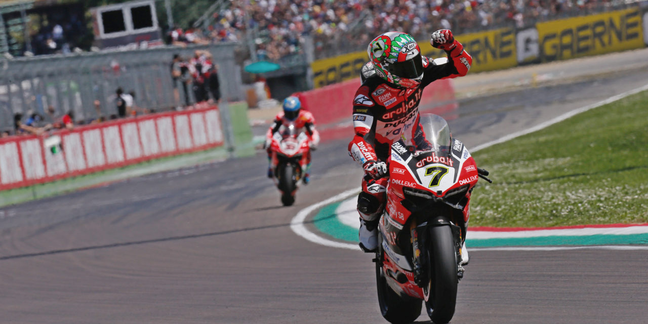 WSBK: Davies stuns in Italian sun to take stunning double victory at Imola