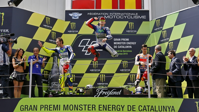 MotoGP:  Jorge Lorenzo makes it four in a row as Marquez crashes in Barcelona