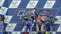 MotoGP: Championship leader Marquez takes stunning victory on home turf as Lorenzo fights off Rossi