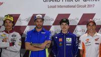 MotoGP: Viñales on pole after rain storms halt qualifying at Losail International Circuit