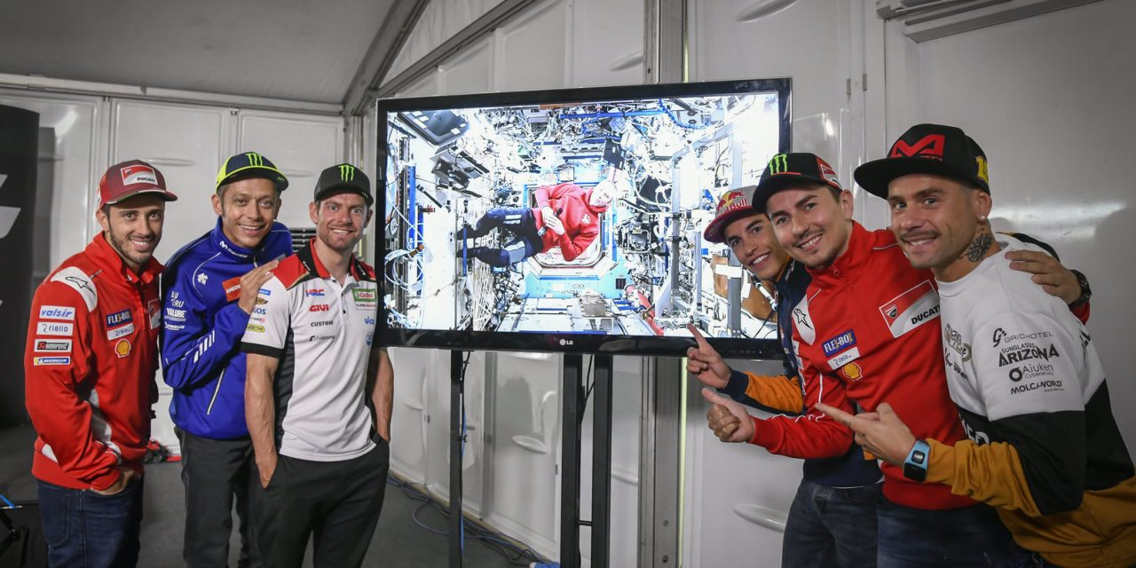 MotoGP: The British GP pre-event Press Conference welcomes a special guest from the International Space Station