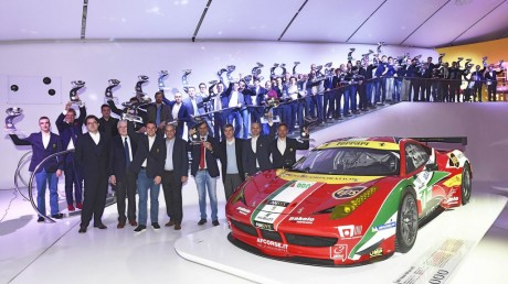 2014 GT Awards ceremony with over fifty drivers honoured at the Enzo Ferrari Museum in Modena-Image copyright Ferrari