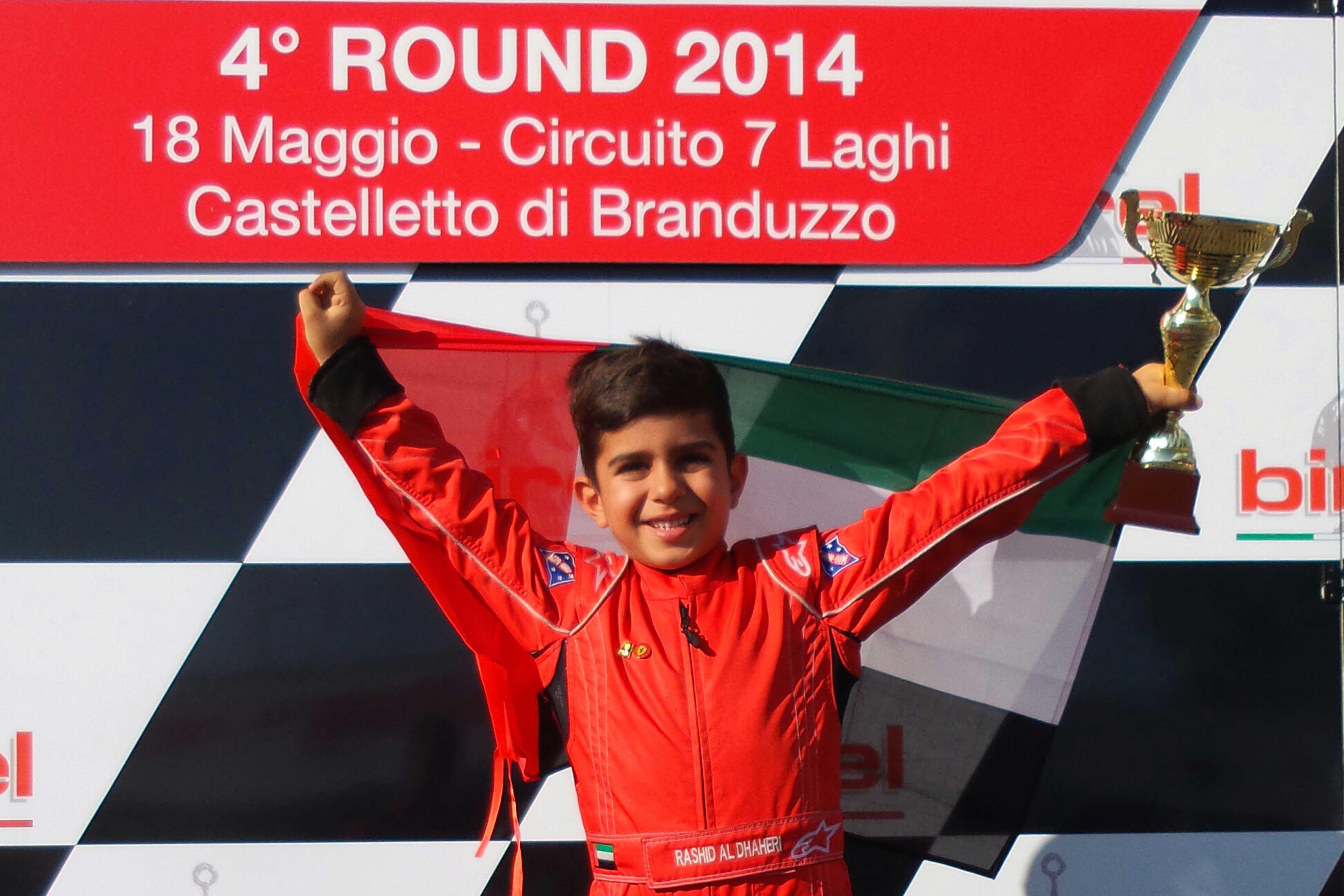 Karting Dubai: Rashid Al Dhaheri makes history in Italy