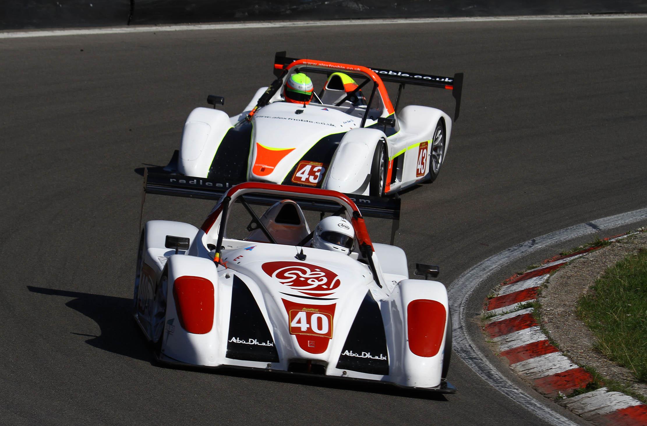 ADTA driver Jassim Al Shamsi battles in his toughest Radical Masters race at Hungaroring
