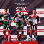 WSBK: Rea takes fourth successive win after restarted race in Buriram Thailand
