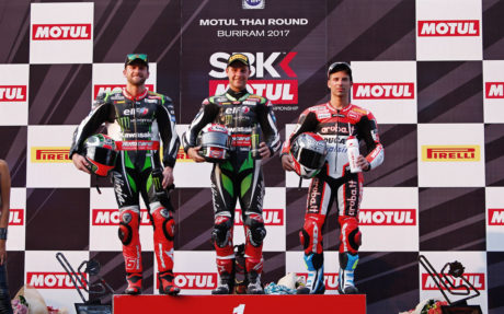 Thailand race 3 podium