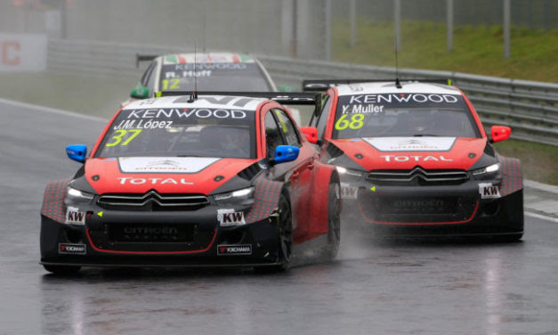WTCC: Rain soaked Hungaroring no problem for Citroen pair