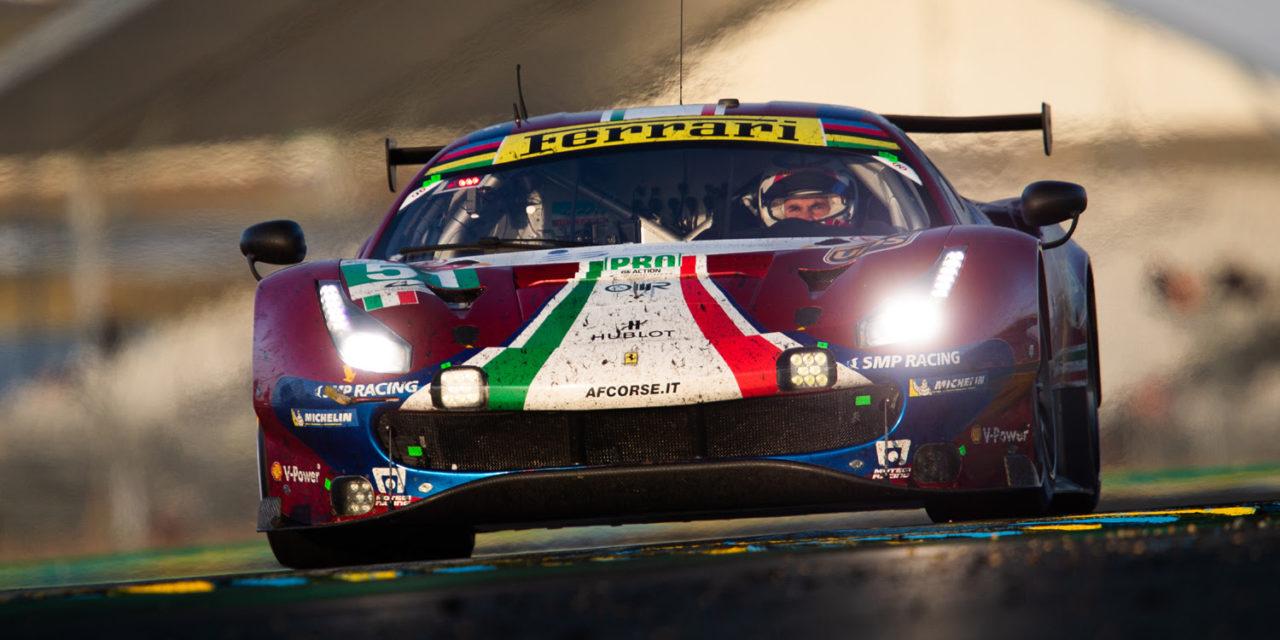 Le Mans: Ferrari and Porsche celebrate GTE success in Le Mans