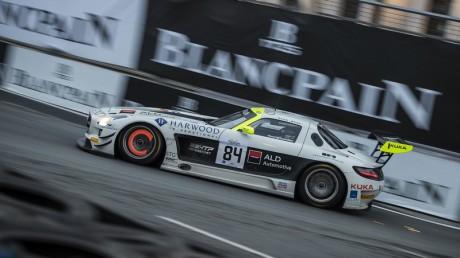 2014 Blancpain Sprint Series Maximilian Götz (#84 HTP Motorsport Mercedes) was crowned the new Series champion